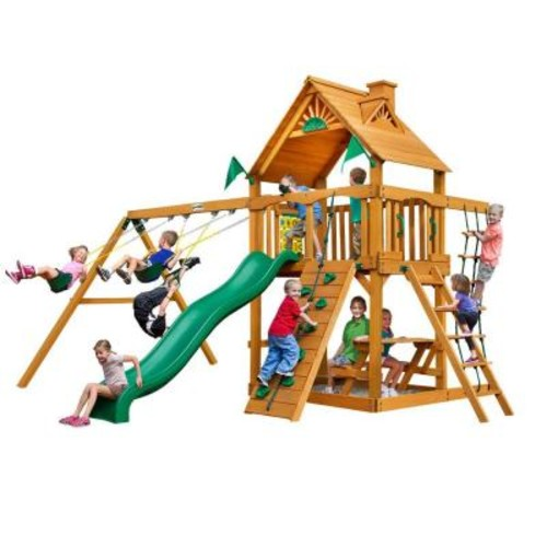 Gorilla Playsets Chateau with Amber Posts Cedar Playset