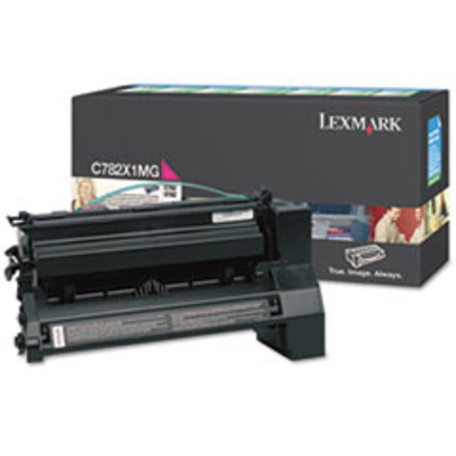 Lexmark C782X1MG Extra High-Yield Toner, 15000 Page-Yield, Magenta