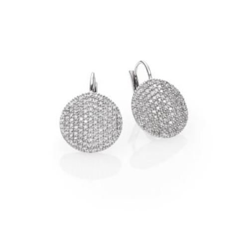 Affair Diamond & 14K White Gold Infinity Leverback Earrings