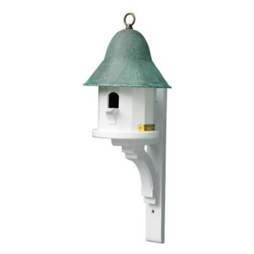 Good Directions Lazy Hill Farm Designs Copper Top Birdhouse with Blue Verde Copper Roof