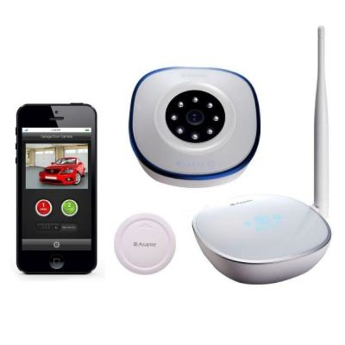 Asante Garage Door Opener with Camera Kit + Sensor Receive Email and Text Notification on Status of Garage Door
