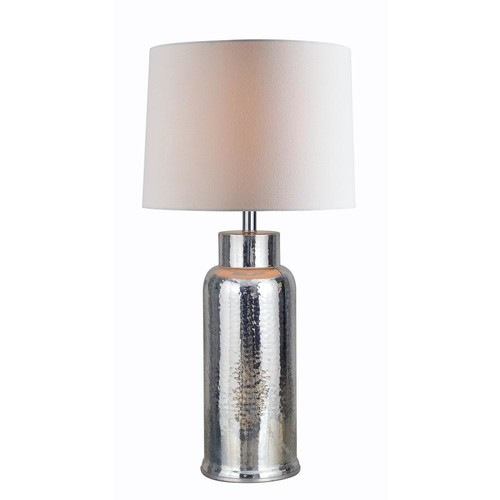 Kenroy Home Turnbull 30.5 in. Mercury Indoor Table Lamp with White Shade