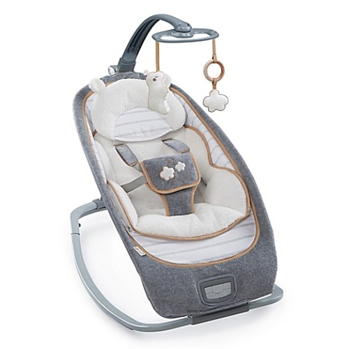 Ingenuity Boutique Teddy Convertible Rocker in Grey