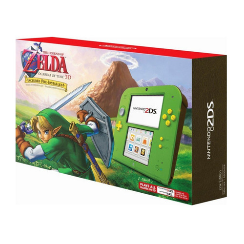 Nintendo 2DS with the Legend of Zelda Ocarina of Time 3D