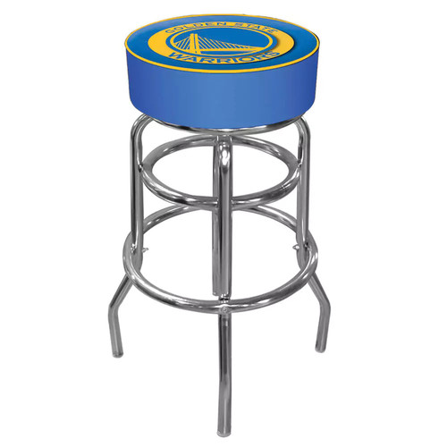 Golden State Warriors Padded Swivel Bar Stool