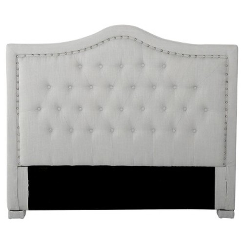Dante Full/ Queen Upholstered Tufted Headboard - Light Grey - Christopher Knight Home