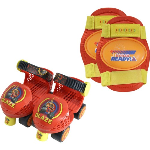 Playwheels Boys' Blaze and the Monster Machines Roller Skates and Knee Pads