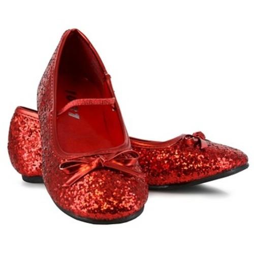 Halloween Girls' Sparkle Ballerina Shoes Red