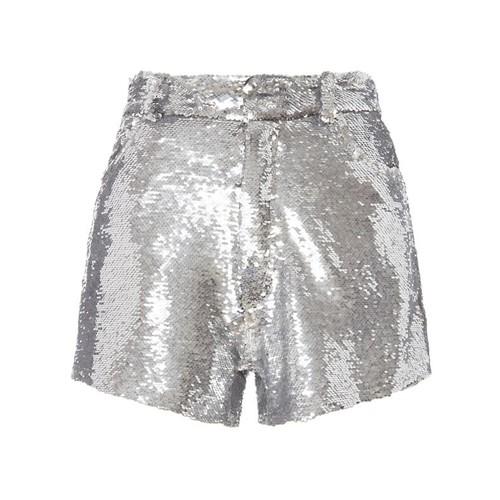 IRO Silver Sequin Shorts