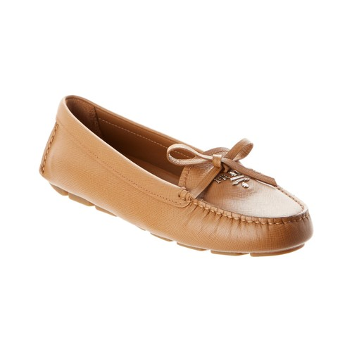 Saffiano Leather Moccasin