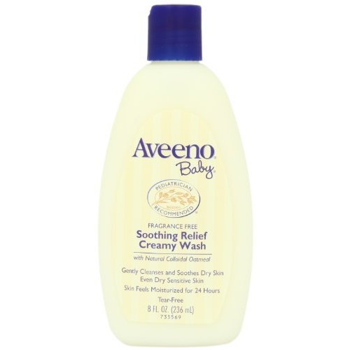Aveeno Baby Soothing Relief 24 Hour Moisture Creamy Wash, 8 Fl. Oz. [8 Ounce, Soothing Relief Creamy Wash]