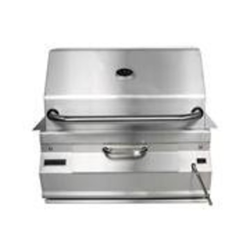 Charcoal Legacy Built In Grill (Grill w 24 in. Smoker Hood)
