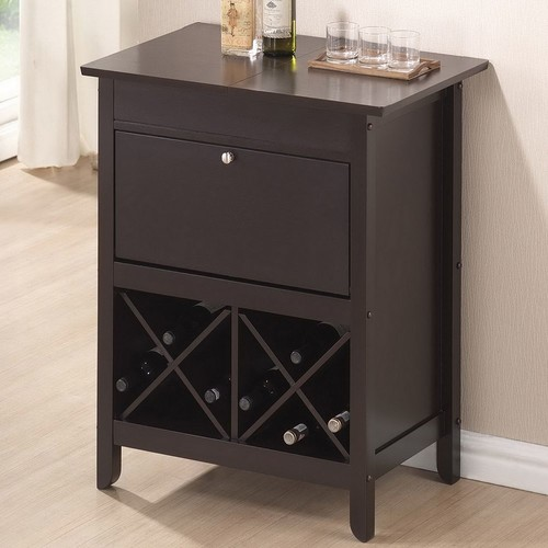 Baxton Studio Tuscany Brown Modern Dry Bar and Wine Cabinet [Dark Brown]