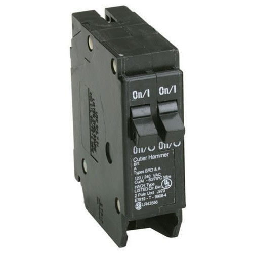 Eaton Corporation Br3030 Single Pole Tandem Circuit Breaker, 120V, 2-30-Amp
