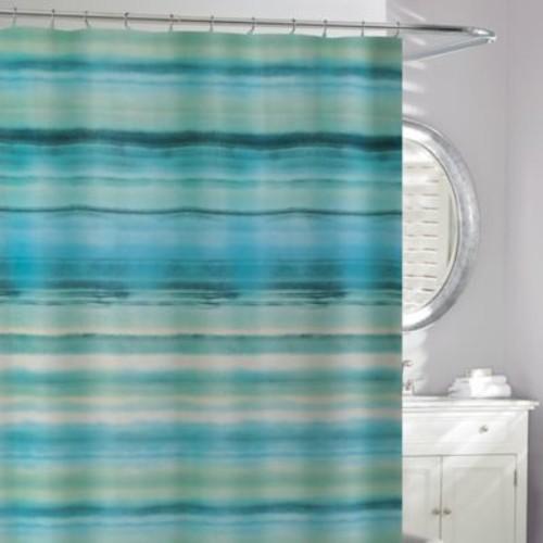 Ocean Watercolor Shower Curtain in Blue/Green