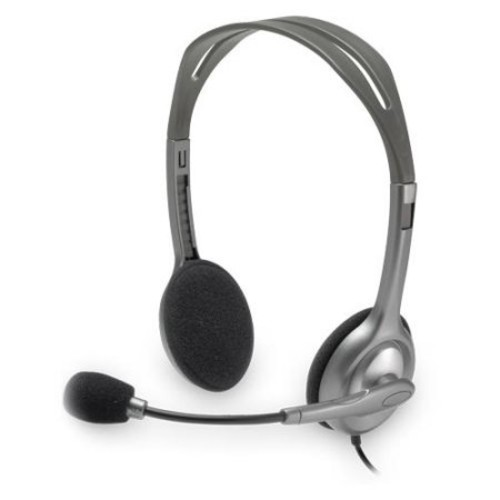 Logitech H110 Headset - Stereo - Mini-phone - Wired - 20 Hz - 20 kHz - Over-the-head - Binaural - 6 ft Cable - Noise Can