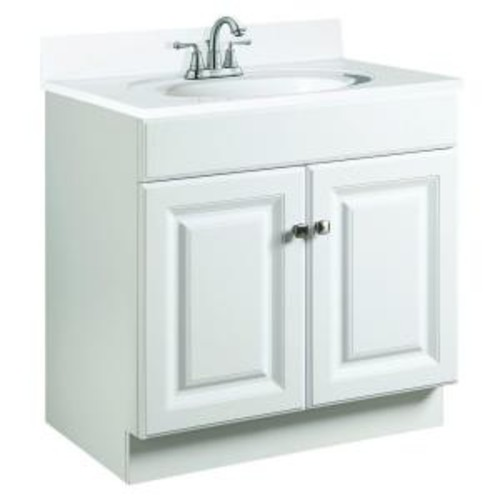 Design House Wyndham 30 in. W x 21 in. D Unassembled Vanity Cabinet Only in White Semi-Gloss
