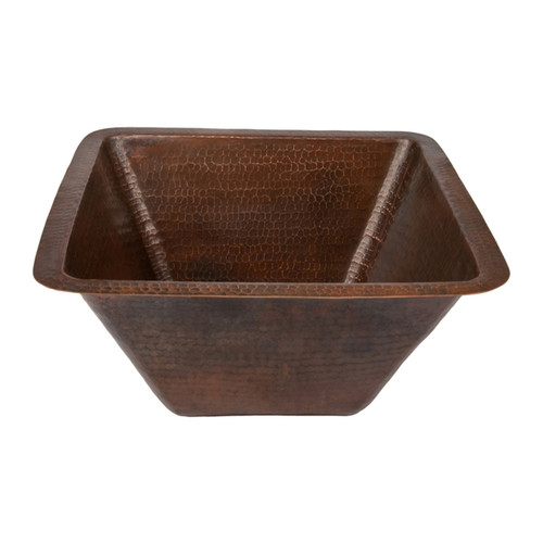 Premier Copper Products 17-inch Square Hammered Copper Bar/ Prep Sink