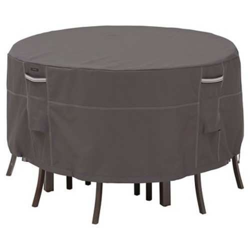 Ravenna Tall Round Patio Table And Chair Set Cover - Dark Taupe - Classic Accessories