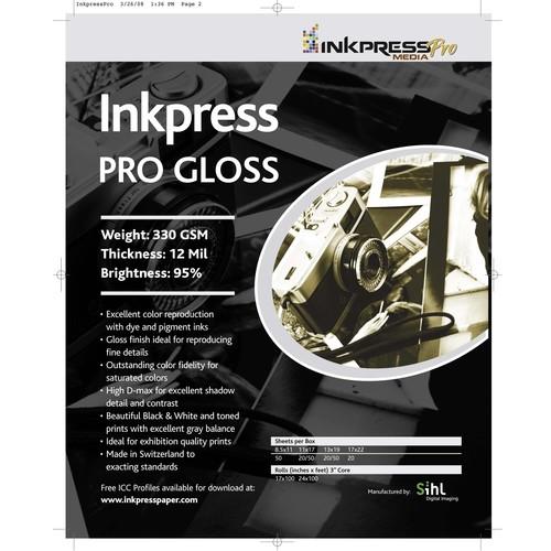 Inkpress Pro Gloss Glossy Photo Paper (13x19