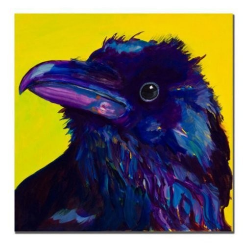 Corvus by Pat Saunders-White, 18x18-Inch Canvas Wall Art [18 by 18-Inch]