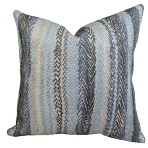 Plutus Rhythm Waves Handmade Double Sided Throw Pillow
