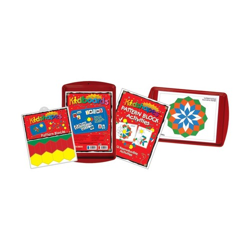 Barker Creek Magnets, Learning Magnets, Pattern Block Activity Kit, Grades Pre-K+, Pack Of 110