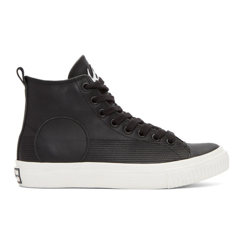 MCQ ALEXANDER MCQUEEN Black Swallow Plimsoll High-Top Sneakers