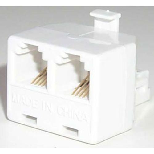 Modular Telephone Duplex Adapter ( White )