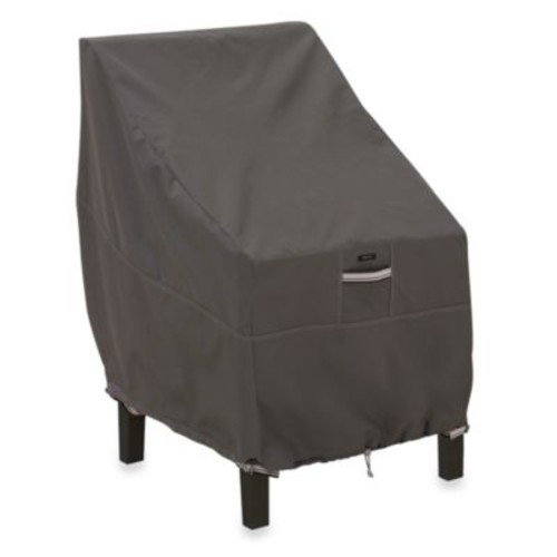 Classic Accessories Ravenna Highback Chair Cover in Dark Taupe