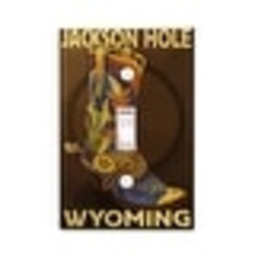 Jackson Hole, WY - Boot - LP Artwork (Light Switchplate Cover)