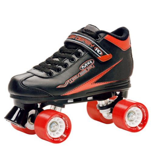 Roller Derby Viper M4 Men's Speed Quad Skate in Blacl/Red