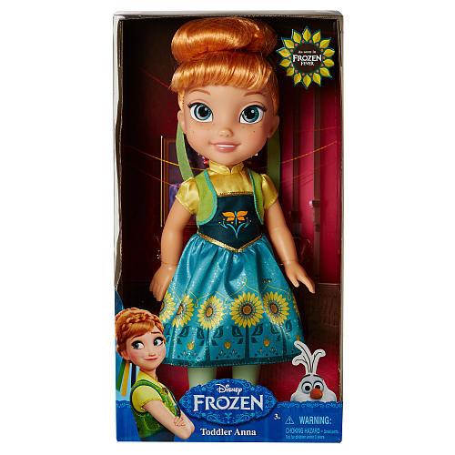 Disney Frozen Fever Toddler Doll - Anna in Sunflower Dress