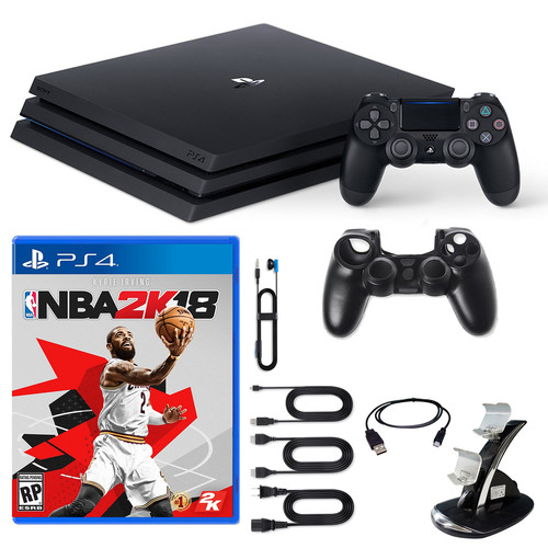 Sony PlayStation 4 Pro Console NBA2K18 and Accessories