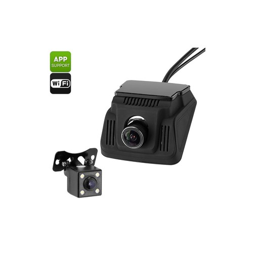 Car Dash Cam And Reverse Camera - Wi-Fi, G-Sensor, Loop Recording, 170-Degrees Recroding, Ignition Start