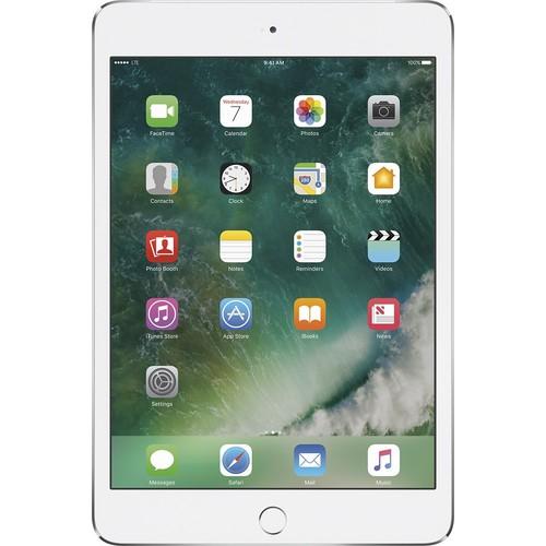 Apple - iPad mini 4 Wi-Fi + Cellular 128GB - AT&T - Silver