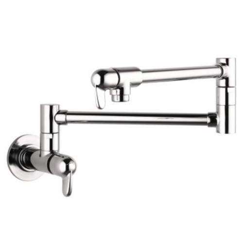 Hansgrohe Allegro E Two Handle Wall Mounted Pot Filler Faucet; Chrome