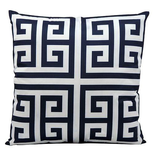 Mina Victory Greek Key Outdoor Throw Pillow