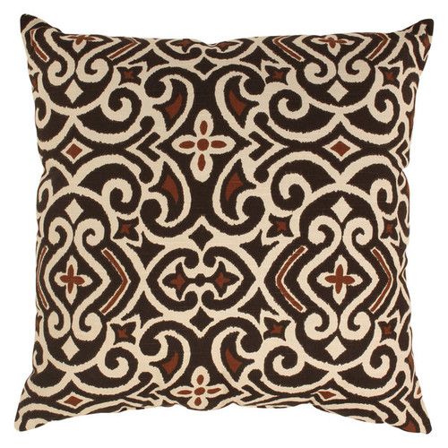Damask 24.5-inch Throw Pillow