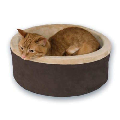 K&H Manufacturing Thermo Kitty Bolster/Donut; Brown