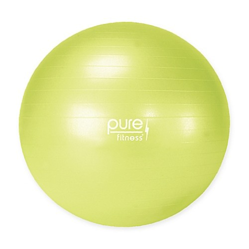 Pure Fitness 55cm . Anti-burst Exercise Ball in Lime