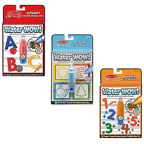 Melissa & Doug Alphabet, Numbers and Color & Shapes Water Wow Bundle