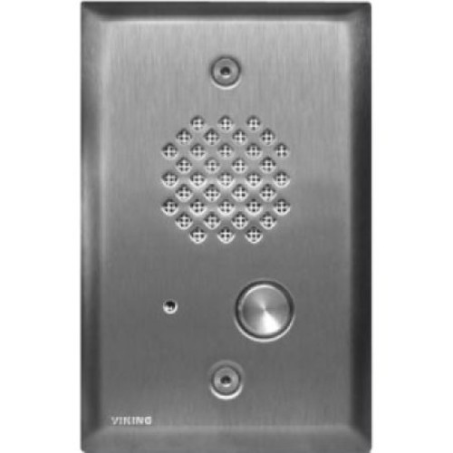 Viking Electronics Brushed Stainless Steel Entry Phone - Cable - Flush Mount, Surface Mount (e-40ss)