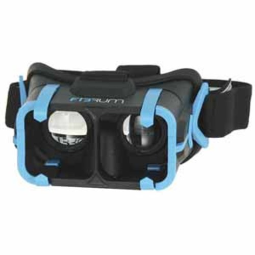 Fibrum Pro Virtual Reality Headset + Apps for 4 - 6 Screen Smartphones - Black