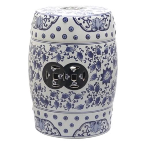 Ceramic Oriental Garden Stool - CERAMIC GARDEN STOOL
