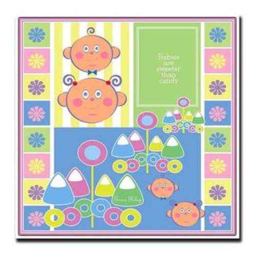 Trademark Global Babies are Sweeter than Candy by Grace Riley Nursery Canvas Art (18 in. x 18 in.)