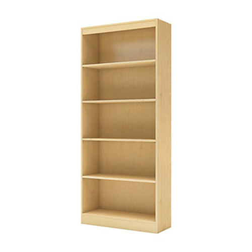 South Shore Furniture Axess 5-Shelf Bookcase, Natural Maple Finish
