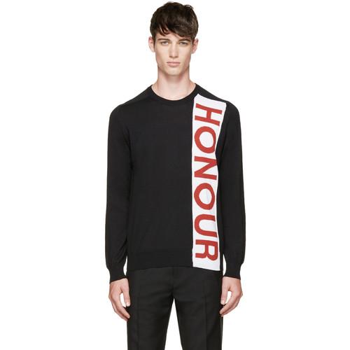 Black 'Honour' Sweater