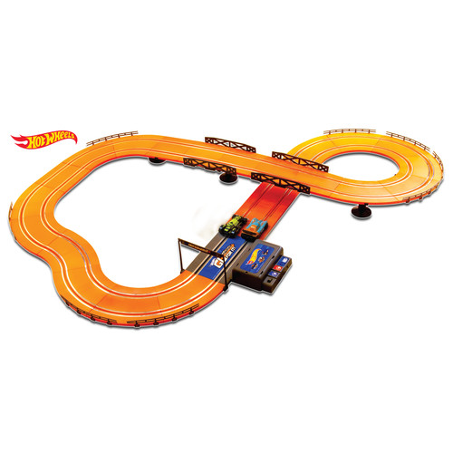 KidzTech Hot Wheels Batter Operated 12.4 ft. Slot Track