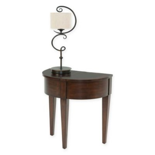 Chairside Half Mood Table in Light Brown